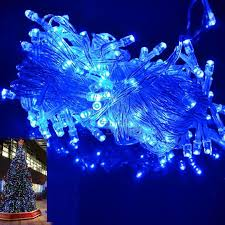 blue led christmas string lights wholesale 10m 100 led string blue christmas decoration outdoor party