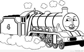 thomas the train coloring page timykids