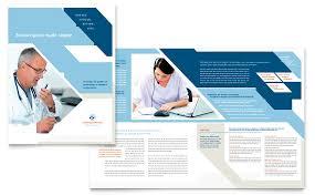 health care brochure template medical transcription brochure