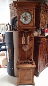 German Grandfather Clocks 1910 U0027s German Made Kienzle Art Nouveau Open Well Style Grandfather