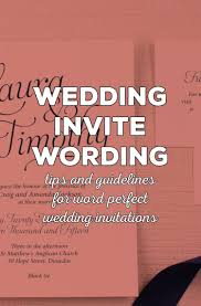Wedding Invite Verbiage Wording Wedding Invitations A Beginners Guide