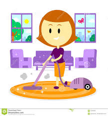 mom cleaning house for spring stock vector image 70047809