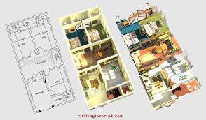 Merry 7 House Plan With 6 Marla House Plans Civil Engineers Pk