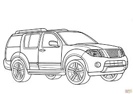 nissan skyline drawing outline nissan pathfinder coloring page free printable coloring pages