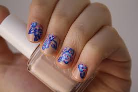 abstract floral nail art design sunshine citizen