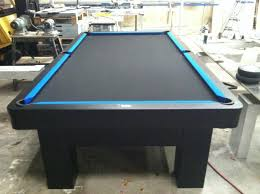 Custom Pool Tables by Like All Black With Blue Contrast Pool Table Refurbish