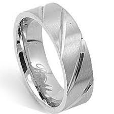Stainless Steel Wedding Rings by Stainless Steel Men U0027s Wedding Ring Polished Diagonal Cuts 6mm