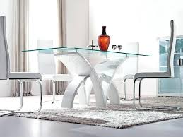 Designer Glass Dining Tables Contemporary Dining Furniture Sets M Glass Top Dining Table