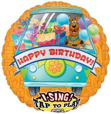 singing birthday balloons scooby doo balloons birthday balloons perth singing birthday