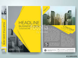 brochure design template vector business flyers report magazine