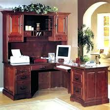 Bush Desk With Hutch L Desk With Hutch Bethebridge Co