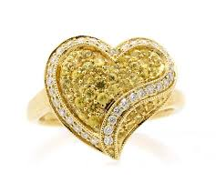 heart design rings images 14k white gold 0 45ct tw yellow sapphire 0 30 diamond heart jpg