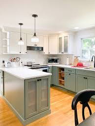 green lower white kitchen cabinets painting cabinets white should you do it ma painters