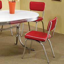 Retro Red Kitchen Chairs - diner chairs ebay