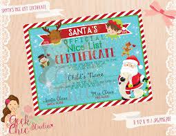 santa santa nice list santa nice list certificate santa