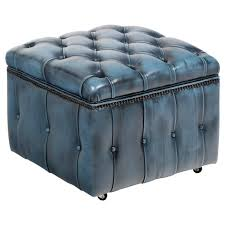Storage Ottoman Tufted by Furniture Circle Ottoman Blue Storage Ottoman Square Tufted
