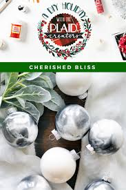 how to make marbled christmas ornaments christmas ornament