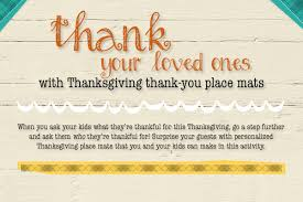 teach to show gratitude with thanksgiving place mats