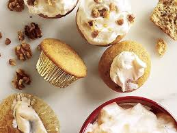 maple frosting walnut cupcakes with maple frosting recipe myrecipes