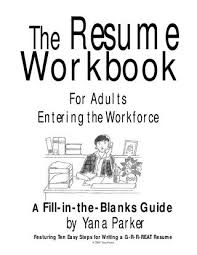 Resume Fill In The Blank Fill In The Blanks Resume Workbooks By Yana Parker By Hussein