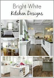 Bright White Kitchen Cabinets 80 Best Kitchens Images On Pinterest Kitchen White Kitchens And