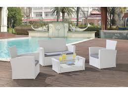 canape jardin resine salon jardin arequipa canapé 2 fauteuils table basse blanc