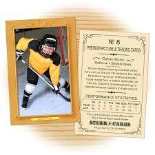 custom hockey cards vintage 11 series starr cards