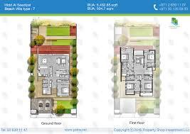 Floor Plan Of Mansion Beach Mansion Villa Type 7 Floor Plan Of Hidd Al Saadiyat