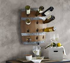 wine barrel wall mount wine rack pottery barn