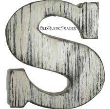 rustic wall letters home decor letter 8 inch large letter wall