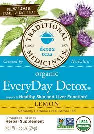 traditional medicinals detox tea organic everyday detox lemon