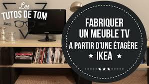 Meuble Tv Longueur Maison Et Mobilier D Intérieur Diy Fabriquer Un Meuble Tv à Partir D Une étagère Ikea
