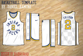 jersey design indiana pacers indiana pacers jersey template