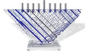 lucite menorah hanukkah gifts victory hanukkah menorah blue acrylic