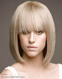 hair styles just abovethe shoulders blonde just above the shoulders bob hairstyle with a soft fringe