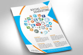 social media brochure template social media marketing flyer flyer templates creative market