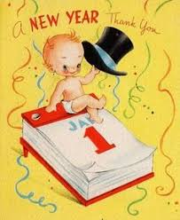 new years card greetings almost midnight vintage cards card boards and mid century