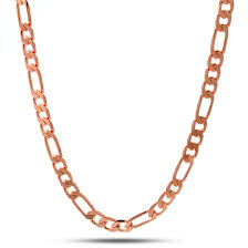 figaro gold necklace images King ice 7mm rose gold figaro chain hip hop jewelry urban jpeg
