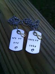 His And Hers Dog Tags Hand Stamped