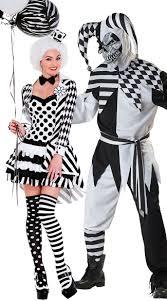 Jester Halloween Costumes Women U0027s Fool Couples Costume Black White Clown Costume