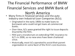 bmw financial services number chapter 5 the performance of nontraditional banking companies