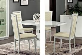 White Dining Room Table And 6 Chairs Roma Dining Set White Table And 6 Chairs Esf Furniture