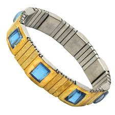 blood pressure bracelet images Flexible magnetic gold bracelet for blood pressure control for men jpg