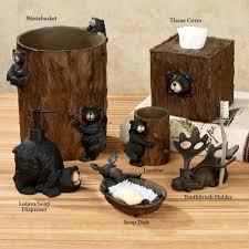 Moose Home Decor Big Country Moose And Bear 5 Piece Bath Set Cabin Decor Shower