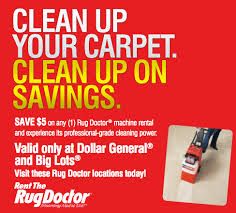 the rug doctor 5 mail in rebate valid at big lots and dollar
