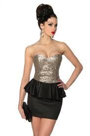 rochii de club rochie de club scurta negru cu auriu cu paiete si peplum