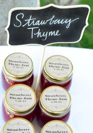 strawberry thyme jam wedding favors s morsels