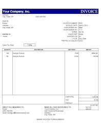 free sample invoice usa invoice template u2013 dimora me