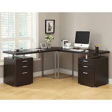 shop monarch specialties contemporary l shaped desk at lowes com