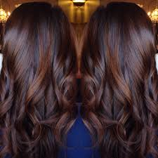 Colours For Highlighting Hair Brunette Balayage Chocolate Red Hair Style Done By